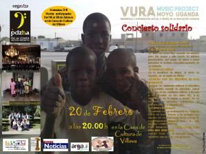cartel VURA CONCIERTO SOLIDARIO castellano