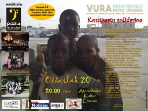 cartel VURA CONCIERTO SOLIDARIO euskera